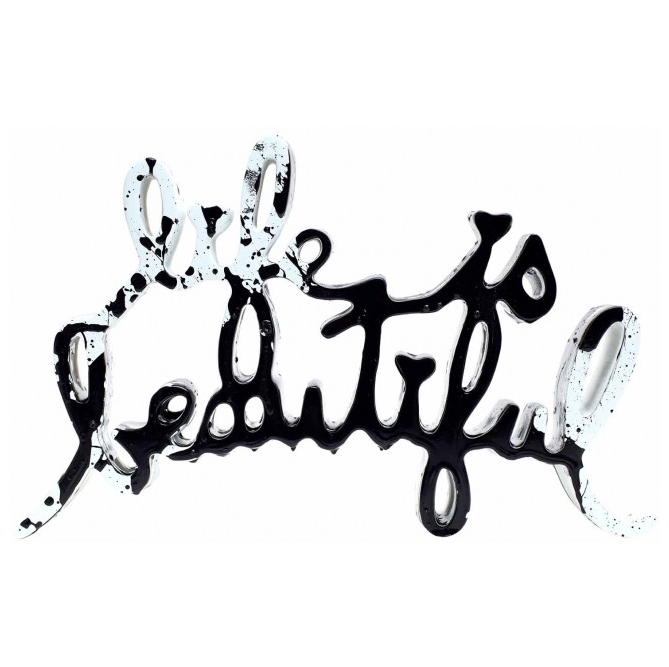 Life is beautiful - scultura di Mr.Brainwash in vendita presso la Galleria Deodato Arte di Milano